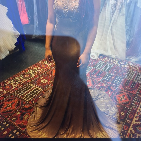 Bronze Colored Prom Dress